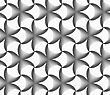 Seamless Geometric Pattern. Gray Abstract Geometrical Design. Flat Monochrome Design.Monochrome Gradually Striped Black Pointy Flowers