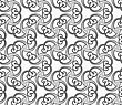 Seamless Geometric Pattern. Gray Abstract Geometrical Design. Flat Monochrome Design.Monochrome Spirals And Stripes
