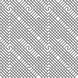 Seamless Geometric Pattern .Realistic Shadow Creates 3D Look. Light Gray Colors.Cut Out Paper Effect.Perforated Square Overlapping Spirals