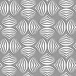 Seamless Geometric Pattern .Realistic Shadow Creates 3D Look. Light Gray Colors.Cut Out Paper Effect.Perforated Twisted Striped Circle Pin Will
