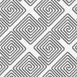 Seamless Geometric Pattern .Realistic Shadow Creates 3D Look. Light Gray Colors.Cut Out Paper Effect.Perforated Square Diagonal Spirals