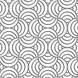 Seamless Geometric Pattern .Realistic Shadow Creates 3D Look. Light Gray Colors.Cut Out Paper Effect.Perforated Striped Circle Pin Will