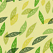 Seamless Green Leaves Pattern. Vector, EPS10 stock illustration