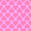 Seamless Hearts Pattern Isolated On Pink Background. Valentines Day Banner