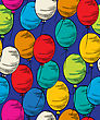 Seamless Party Background With Colored Balloons