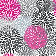 Seamless Pattern With Abstract Hand Drawn Flowers