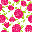 Seamless Pattern With Abstract Rose Flowers. Vector Illustration stock illustration