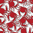 Seamless Pattern Background With Red Crabs