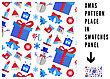 Seamless Pattern With Christmas Elements. Vector Illustration stock illustration