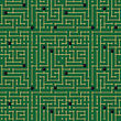 Seamless Pattern. Computer Circuit Board Design