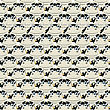 Seamless Pattern Design With Cartoon Cows