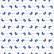 Seamless Pattern Geometric Ornamental COLORFUL BLUE Butterfly