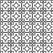 Seamless Pattern Geometric Shapes Ornamental Mosaic Endless Pattern