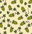 Seamless Pattern Hops Plans As Part Quality Cooking Beer - Vector