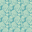 Seamless Pattern With Leaves. Good Idea For Textile, Wrapping, Wallpaper Or Cloth Design. Leaf Background. Vintage Illustration