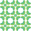 Seamless Pattern Of Green Leaves stock vector