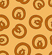 Seamless Pattern Pretzel Background For Oktoberfest Holiday - Vector