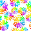 Seamless Pattern With Rainbow Lemon Slices stock vector