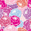 Seamless Pattern With Roses In Red And Pink Tones