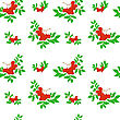 Seamless Pattern Of Several Bunches Of Rowan stock illustration
