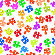 Seamless Pattern With Three-dimensional Puzzle Pieces