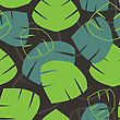 Seamless Pattern With Tropical Palm Leaves. Vector Illustration