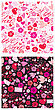 Seamless Pattern For Valentine`s Day With Doves, Letters, Hearts, Arrows And Flowers On Black Or White Background stock vector