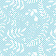 Seamless Pattern With Abstract Drawn Flowers