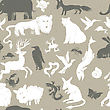 Seamless Pattern With Animals. Vector