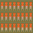 Seamless Pattern With Bears, Vector Format