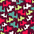 Seamless Pattern With Dogs, Vector Format