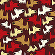 Seamless Pattern With Dogs, Vector Format stock vector