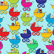 Seamless Pattern With New Born Babies
