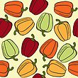 Seamless Pattern With Peppers, Vector Format