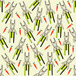 Seamless Pattern With Rabbits, Vector Format