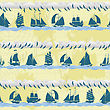 Seamless Pattern With Sailing Ships