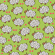Seamless Pattern With Sheep, Vector Format