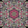 Seamless Pink And Brown Mandala Ornament Template For Menu, Greeting Card, Invitation Or Cover