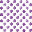 Seamless Polka Dot Pattern From Watercolor Paint Violet Circles. Vector Illustration For Your Design