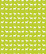 Seamless Repeating Pattern Design With Deer Silhouettes stock illustration