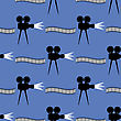 Seamless Retro Cinema Pattern. Old Movie Projector Film Strip Background