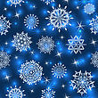Seamless Snowflake Patterns. Fully Editable EPS 10 Vector Illustration With Transparency