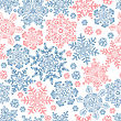 Seamless Snowflakes Pattern For Winter Themed Designs. Vector Illustration, EPS8