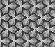 Seamless Stylish Dotted Geometric Background. Modern Abstract Pattern Made With Dotts.Gray Dotted Trefoil Flower