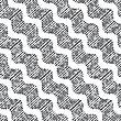 Seamless Stylish Geometric Background. Modern Abstract Pattern. Flat Monochrome Design.Repeating Ornament Dotted Diagonal Wavy