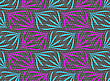 Seamless Stylish Geometric Background. Modern Abstract Pattern. Flat Textured Design.Textured Ornament With Purple And Blue Floral Elements