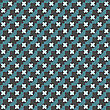 Seamless Stylish Geometric Background. Modern Abstract Pattern. Flat Textured Design.Colored Geometrical Pattern With Blue Cross Shapes And Dots