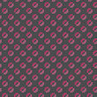 Seamless Stylish Geometric Background. Modern Abstract Pattern. Flat Textured Design.Colored Geometrical Pattern With Pink Dotted Lips