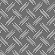Seamless Stylish Geometric Background. Modern Abstract Pattern. Flat Monochrome Design.Monochrome Pattern With White And Gray Diagonal Uneven Stripes With Offset