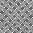 Seamless Stylish Geometric Background. Modern Abstract Pattern. Flat Monochrome Design.Monochrome Pattern With Light Gray Diagonally Striped Lattice